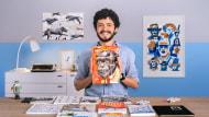 Malbücher: Finden Sie Ihre eigene Sprache. A Illustration course by Santiago Guevara