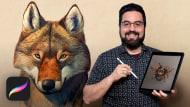Ilustração naturalista de animais com Procreate. Um curso de Ilustração de Román García Mora