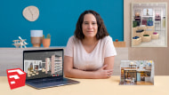 Criação de projetos de design de interiores com SketchUp. Um curso de Arquitetura e Espaços de Alexandra Proaño Gonzales
