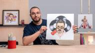 Kreative Porträts mit Filzstiften. A Illustration course by Pablo Velasco Bertolotto