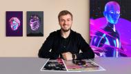 Animation psychédélique avec Photoshop et After Effects. Un cours de 3D , et Animation de Klarens Malluta