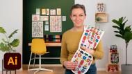 Stoffmusterdesign für dein Zuhause. A Illustration und Design course by Tatiana Nedialkova