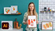 Illustrierte Rezepte: mach köstliche Kunst. A Illustration course by Melanie Chadwick