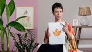 Ilustração de elementos naturais em aquarela. Um curso de Ilustração de Franncine de Miranda (Estúdio Luares)
