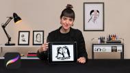 Desenho de tatuagem autoral com Procreate. Um curso de Ilustração de Diana Felix