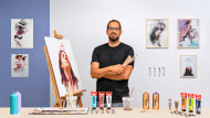 Experimental Portraiture: Fusing Oil, Acrylic, and Spray Paint. A Illustration course by Nikolas Antoniou