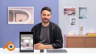 ArchViz de interiores: crea diseños 3D surrealistas con Blender. Un curso de Arquitectura y Espacios de Camille Boldt