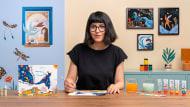 Malen mit Gouache: Gestalte poetische Illustrationen. A Illustration course by Cagla Zimmermann