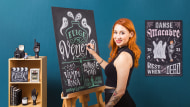 Design and Creation of Chalkboard Lettering. A Calligraphy, and Typography course by Paola Vecco