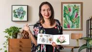 Ilustración botánica con acuarela. Um curso de Ilustração de Canela estudio