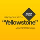 Creatorica UI Set - Yellowstone. A Design, and UI / UX project by Rodolfo Biglie - 07.10.2012