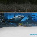 Mural marino en piscina. Um projeto de Instalações e Ilustração de Graffiti Media - 28.04.2013