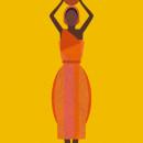 African Woman Concept Art Print. Um projeto de Ilustração de Laura Minimalia - 10.10.2013