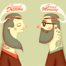 Tattoo girl & boy. A Design, Illustration, and Advertising project by Jotaká - 11.07.2013