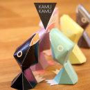 KAMU KAMU papertoy card holders. Un proyecto de Diseño industrial, Diseño de producto y Diseño de juguetes de Vicenç Lletí Alarte - 09.10.2013