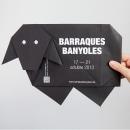Origami Poster Barraques Banyoles. Um projeto de Design, Design gráfico e Serigrafia de Anna Pigem - 23.10.2013