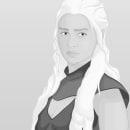 Daenerys Targaryen. Um projeto de Design gráfico e Ilustração de Víctor Gambero - 04.05.2014