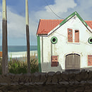 Google street View Studies . A Illustration, Fine Art, L, scape Architecture, and Painting project by Carlos Garijo Martínez - 05.20.2014