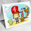 Ilustración para aniversario infantil. Un proyecto de Diseño de personajes e Ilustración de Guixarades - 22.05.2014