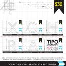 Estampillas. Um projeto de Tipografia de Juan Manuel Falabella - 22.05.2014