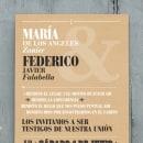 Tarjeta de Invitación. Um projeto de Design editorial e Tipografia de Juan Manuel Falabella - 22.05.2014