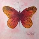Fire butterfly. Um projeto de Design, Ilustração, Artesanato, Artes plásticas e Pintura de María Contreras - 12.07.2014