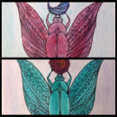 Egyptian twins. Um projeto de Design, Ilustração, Artesanato, Artes plásticas e Pintura de María Contreras - 12.07.2014