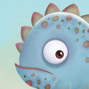 Cute Iguana. Um projeto de Ilustração, Motion Graphics, Animação e Design de personagens de Heidy - 13.07.2014