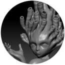 Mermaid WIP Estrenando software. Um projeto de 3D, Design de personagens e Escultura de Heidy - 25.09.2014