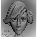Hair Style WIP. Um projeto de 3D, Animação e Design de personagens de Heidy - 26.09.2014
