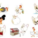 Stickers para app Tellmi. Um projeto de Design, Ilustração e Design de personagens de Alfonso Rosso - 08.10.2014