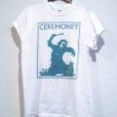 Diseño Camiseta Ceremoney - 2015 Odisea en el ciberespacio. Um projeto de Música e Áudio, Direção de arte, Br, ing e Identidade, Moda, Artes plásticas e Design gráfico de blarestudio   The Hacienda must be built - 15.10.2014