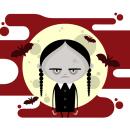 WEDNESDAY ADDAMS - Illustration. Un proyecto de Ilustración, Diseño de personajes y Diseño gráfico de La Gamba Negra - 29.01.2015