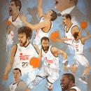 Baloncesto Real Madrid 2015. Un proyecto de Ilustración y Pintura de Fende - 24.06.2015
