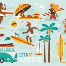 Let´s go surfing. A Design von Figuren und Illustration project by Raquel Jove - 27.07.2015