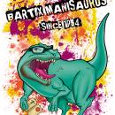 Camiseta Manisaurus. Un proyecto de Ilustración y Serigrafía de Iris de la Mora - 03.09.2015