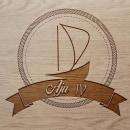 Sail boat Aju IV Logo. Un proyecto de Diseño gráfico de Sandra González Luna - 21.06.2015