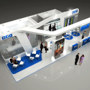 Diseño Stand TAV. Um projeto de 3D, Arquitetura, Br, ing e Identidade, Eventos e Arquitetura de interiores de Quique Cestrilli - 02.01.2015