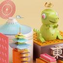 FUJI / 東京 . Um projeto de Ilustração, 3D, Direção de arte e Design de personagens de Juan Felipe Amaya Guarin - 08.02.2016
