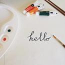 Hello. Um projeto de Caligrafia de Noemi Barro Campos - 25.03.2016