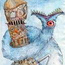 Ilustraciones inspiradas en el libro Deriva. Um projeto de Ilustração e Artes plásticas de María Delgado Prieto - 05.04.2016