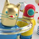 Mi Proyecto del curso: Diseño de personajes en Cinema 4D: del boceto a la impresión 3D. Un progetto di 3D di Daniel Gabela - 23.04.2016