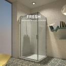 Fresh, mampara de baño a medida. Un proyecto de Diseño y Diseño de producto de Cristina Cánovas - 03.04.2015