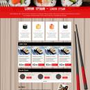 Sushi&Merkén - Logo&Wordpress. Un proyecto de Diseño y Diseño Web de Arianny García Oviedo - 09.05.2016