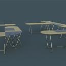 mesa de oficina MÓDULOS. Un proyecto de Diseño, Diseño de muebles y Diseño de producto de emilio_marin - 19.06.2016