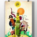 Mi Proyecto del curso: Ilustración exprés con Illustrator y Photoshop. Um projeto de Design de sofy_joyas - 04.07.2016