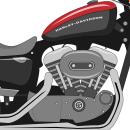 Harley Davidson Ilustración Vectorial. Un proyecto de Diseño, Ilustración y Diseño gráfico de Carlota Felipe de Francisco - 05.07.2016