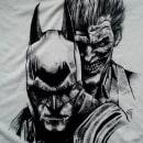 Ilustración Batman y Joker en camiseta. Um projeto de Ilustração de Maite Gutiérrez - 28.06.2015