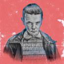 Mi Proyecto del curso: POSTER Stranger Things. Un proyecto de Ilustración, Dirección de arte, Bellas Artes y Pintura de Uriel Márquez Romo - 23.08.2016