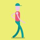 walking cicle. Um projeto de Animação, Design de personagens e Ilustração de Natalia Peña - 07.10.2016
